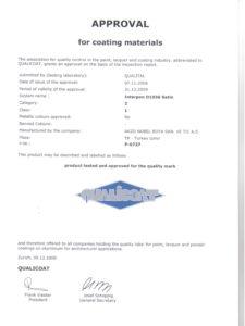 Qualicoat D1036 Satin certificate