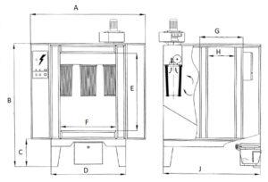 камера напыления фильтрового типа