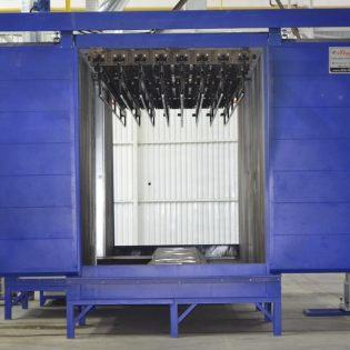 проходная печь полимеризации